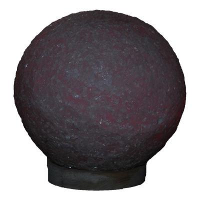 Küre Şekilli Doğal Kaya Tuzu Lambası Kablolu Ampullü Beyaz 7-8 Kg
