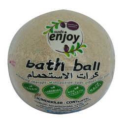 Lavantalı El Yapımı Banyo Küvet Topu Sabunu Mor 90-120 Gr - Thumbnail