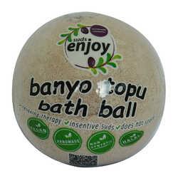 Enjoy - Lavantalı El Yapımı Banyo Küvet Topu Sabunu Mor 90-120 Gr (1)