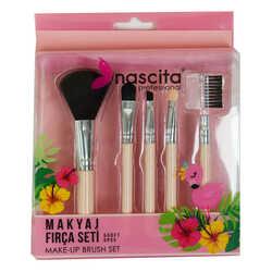 Makyaj Fırça Seti 5 Li Make-Up Brush Set Professional - Thumbnail