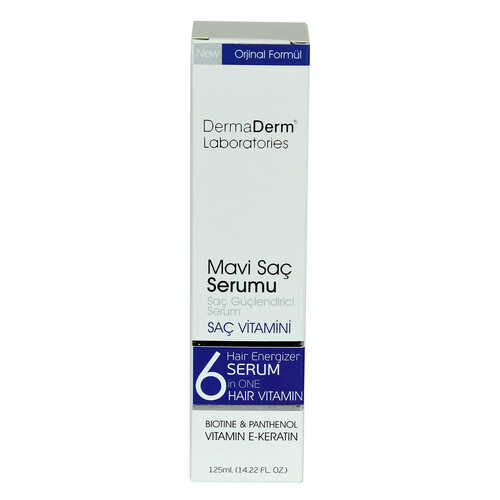 Mavi Saç Serumu Saç Güçlendirici Serum (Biotin Panthenol Vitamin E-Keratin) 125 ML
