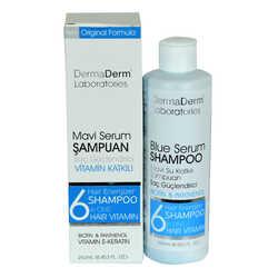 DermaDerm - Mavi Serum Şampuanı Saç Güçlendirici (Biotin Panthenol Vitamin E-Keratin) 250 ML Görseli