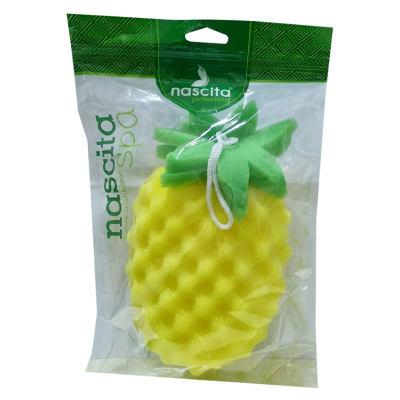 Meyve Desenli Duş Süngeri Sarı