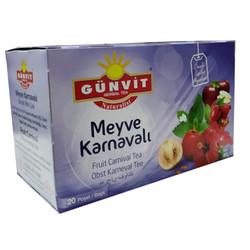Günvit - Meyve Karnavalı Karışık Bitki Çayı 20 Süzen Poşet Görseli