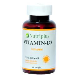 Nutriplus Vitamin D3 60 Kapsül - Thumbnail