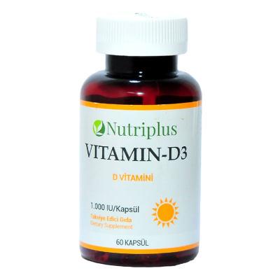 Nutriplus Vitamin D3 60 Kapsül
