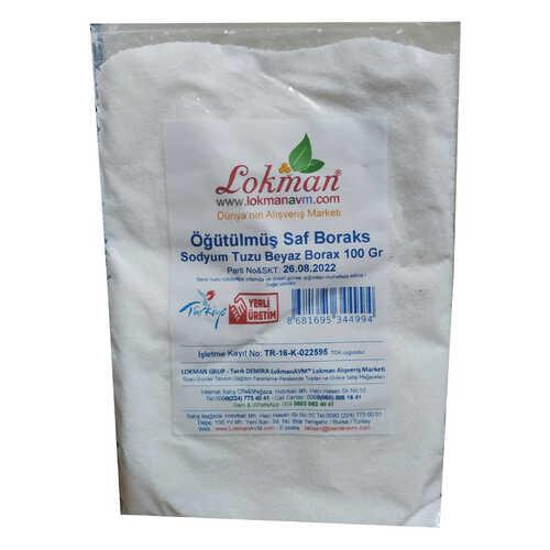 Öğütülmüş Saf Boraks Sodyum Tuzu Beyaz Borax 100 Gr