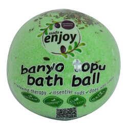 Enjoy - Okaliptuslu El Yapımı Banyo Bombası Banyo Topu Yeşil 90-120 Gr Görseli