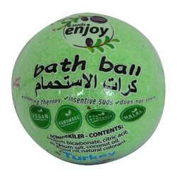 Okaliptuslu El Yapımı Banyo Küvet Topu Sabunu Yeşil 90-120 Gr - Thumbnail