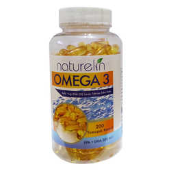 Omega 3 Balık Yağı İçeren Gıda 200 Kapsül - Thumbnail