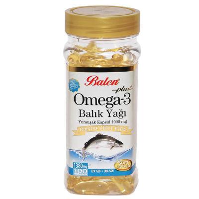 Omega-3 Plus+ Balık Yağı 100 Kapsül