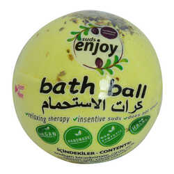 Enjoy - Papatyalı El Yapımı Banyo Bombası Banyo Topu Sarı 90-120 Gr Görseli