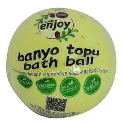 Papatyalı El Yapımı Banyo Küvet Topu Sabunu Sarı 90-120 Gr - Thumbnail
