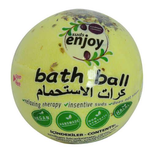 Papatyalı El Yapımı Banyo Küvet Topu Sabunu Sarı 90-120 Gr