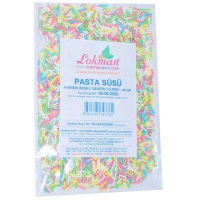 Pasta Süsü Granül Şekeri Karışık Renk 40 Gr Paket