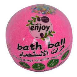 Pembe Düşler El Yapımı Banyo Bombası Banyo Topu Pembe 90-120 Gr - Thumbnail