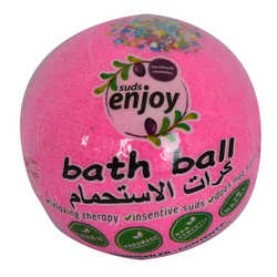 Pembe Düşler El Yapımı Banyo Küvet Topu Sabunu Pembe 90-120 Gr - Thumbnail