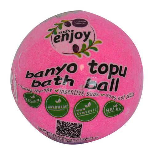 Pembe Düşler El Yapımı Banyo Küvet Topu Sabunu Pembe 90-120 Gr