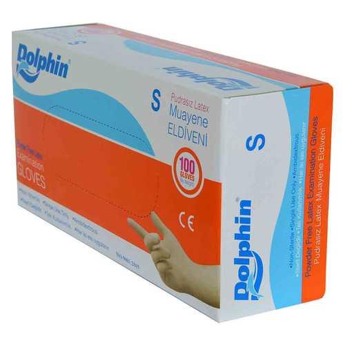 Pudrasız Beyaz Latex Muayene Eldiveni Küçük Boy (S) 100 Lü Paket