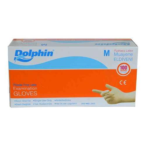 Pudrasız Beyaz Latex Muayene Eldiveni Orta Boy (M) 100 Lü Paket