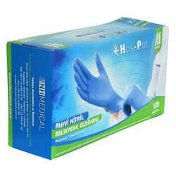 Pudrasız Mavi Nitril Eldiven Orta Boy (M) 100 Lü Paket - Thumbnail
