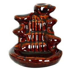 Seramik Şelale Buhurdanlık Kahverengi Backflow Geri Akış - C0570 - Thumbnail