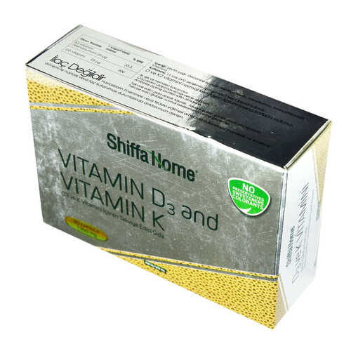Shiffa Home D3 ve K Vitamini Yumuşak 1300 Mg x 30 Kapsül