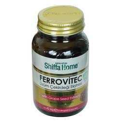 Shiffa Home Ferrovitec Üzüm Çekirdeği Ekstresi Diyet Takviyesi 710 Mg x 60 Kapsül - Thumbnail