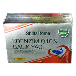 Aksuvital - Shiffa Home Koenzim Q10 & Balık Yağı Yumuşak Jel 1340 Mg x 30 Kapsül Görseli