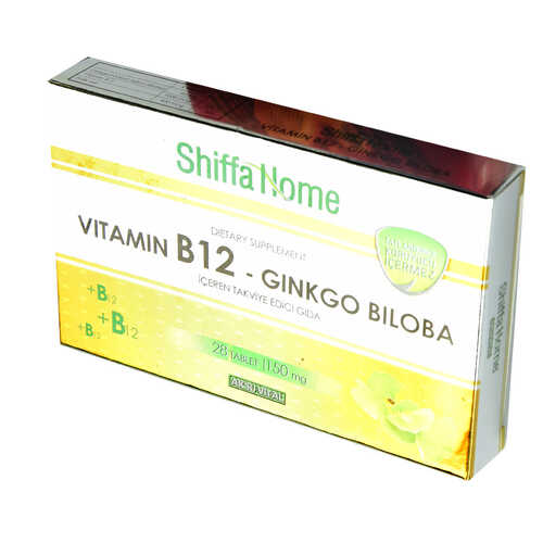 Shiffa Home Vitamin B12-Ginkgo Biloba 28 Tablet 150 Mg
