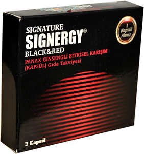 SİGNERGY SİGNATURE BLACK RED BAY BAYAN 2KAPSÜL
