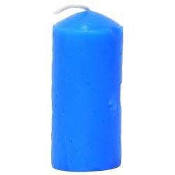 Silindir Mum Mavi 3.5x7cm 60 Gr - Thumbnail