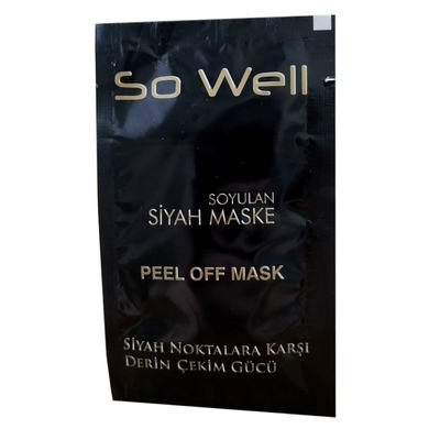 Soyulabilir Siyah Maske 10 ML