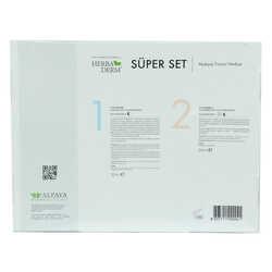 HerbaDerm - Süper Set Superserum Aha-Peeling 30 ML + Saf Vitamin C 30 ML + Hediye Makyaj Fırçası (1)