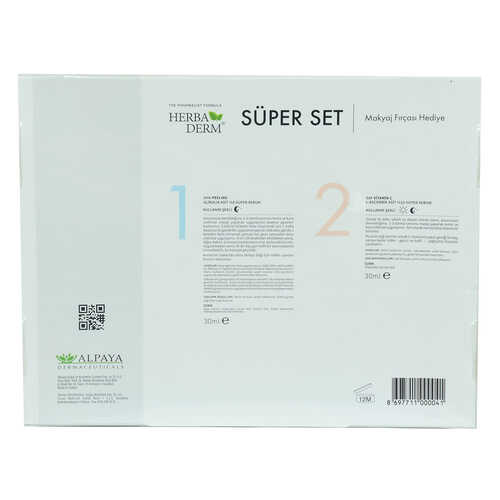Süper Set Superserum Aha-Peeling 30 ML + Saf Vitamin C 30 ML + Hediye Makyaj Fırçası