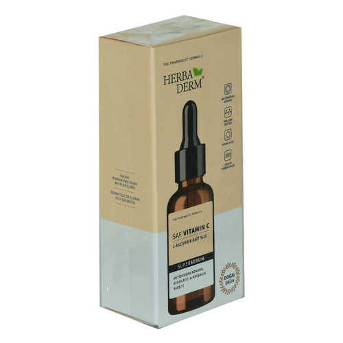 Superserum Saf Vitamin C Antioksidant Aydınlatıcı Kırışıklık Karşıtı Doğal Yüz Serumu 30 ML