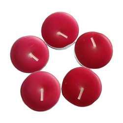 Ksmart - Tea Lights Kırmızı Mum 5Ad (1)