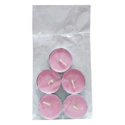 Tea Lights Pembe Mum 5 Ad - Thumbnail