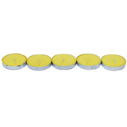 Ksmart - Tea Lights Sarı Mum 5 Adet (1)
