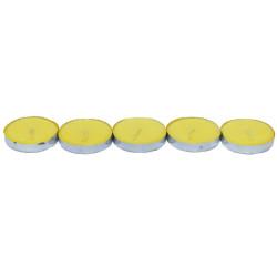 Ksmart - Tea Lights Sarı Mum 5 li 1 Paket Görseli