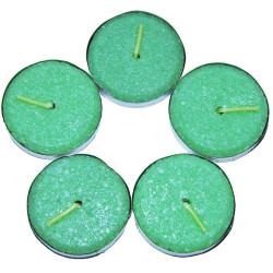 Tea Lights Yeşil Mum 5 li 1 Paket - Thumbnail