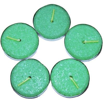 Tea Lights Yeşil Mum 5 li 1 Paket