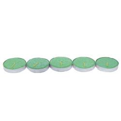 Ksmart - Tea Lights Yeşil Mum 5Ad (1)