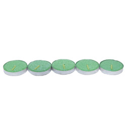 Ksmart - Tea Lights Yeşil Mum 5Ad Görseli