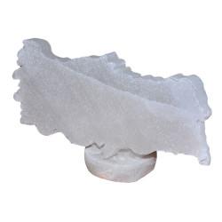 Türkiye Haritası Şekilli Doğal Kaya Tuzu Biblosu Beyaz 0-1 Kg - Thumbnail