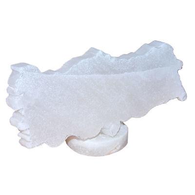 Türkiye Haritası Şekilli Doğal Kaya Tuzu Biblosu Beyaz 0-1 Kg