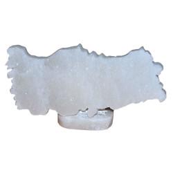 Türkiye Haritası Şekilli Doğal Kaya Tuzu Biblosu Beyaz 1-2 Kg - Thumbnail