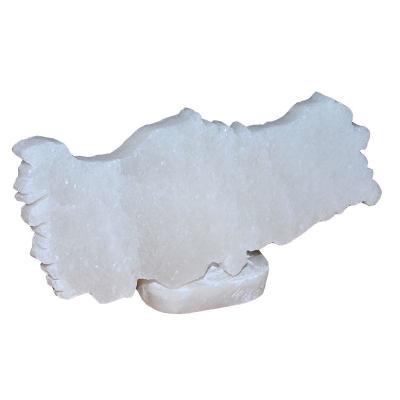Türkiye Haritası Şekilli Doğal Kaya Tuzu Biblosu Beyaz 1-2 Kg