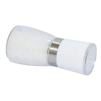 Tuz Karabiber Cam Değirmeni Beyaz + Çankırı Granül Çakıl Doğal Kaya Tuzu 200 Gr