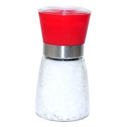 Tuz Karabiber Cam Değirmeni Kırmızı + Çankırı Granül Çakıl Doğal Kaya Tuzu 200 Gr - Thumbnail